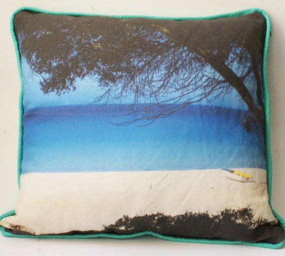 Inspired by Summer daydreams - crystal blue water, bright white sand and clear blue skies. This image was taken on the West Australian coast. Bring the beach into your home.