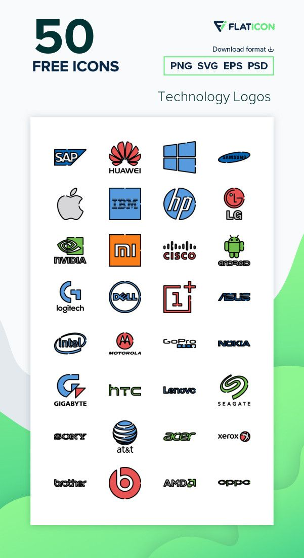 50 Free Vector Icons Of Technology Logos Designed By Freepik Technology Logo Free Icon Packs Icon