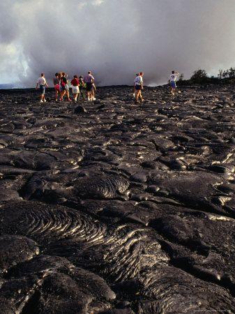 Lava fields Hawaii