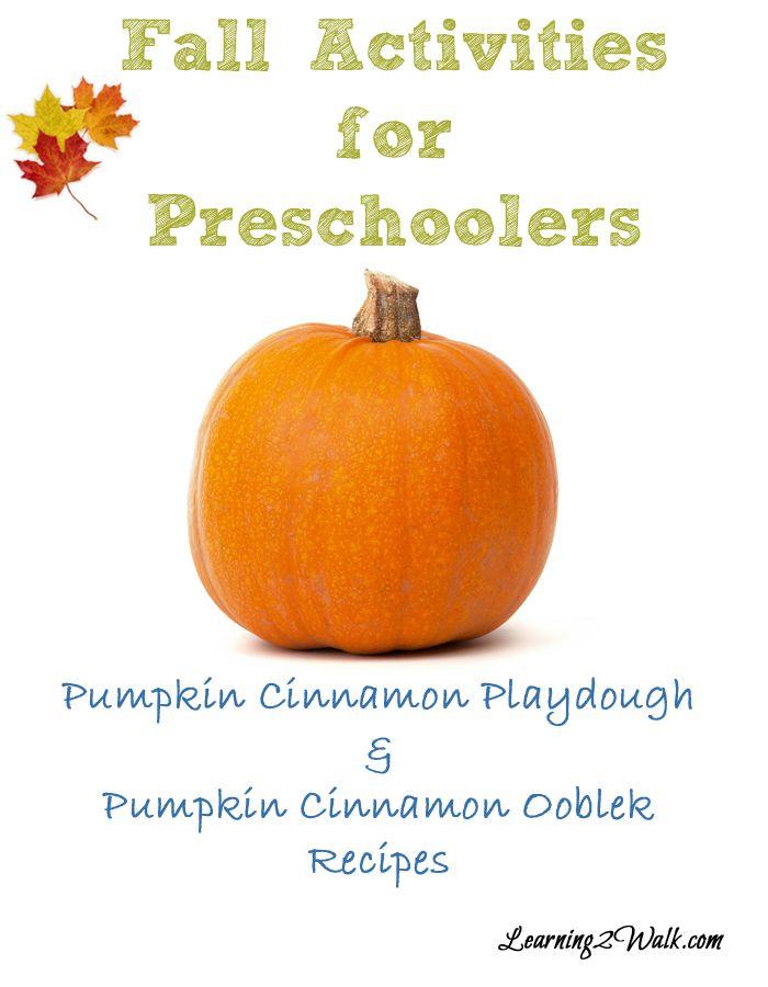 Fall Activities for Preschoolers Pumpkin Playdough and Pumpkin Ooblek-Celebrating fall with our sensory fall activities for preschoolers playdough and ooblek.