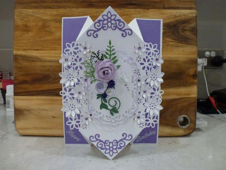 My version of Diamond Fold Card - thanks to Tatty Pud
