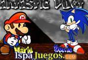 Fantastic Duet 2: Selecciona a tu favorito a Mario o Sonic y atraviesa la mejor aventura donde tendras grandes obstaculos y recolectar todas las monedas que sean posible,