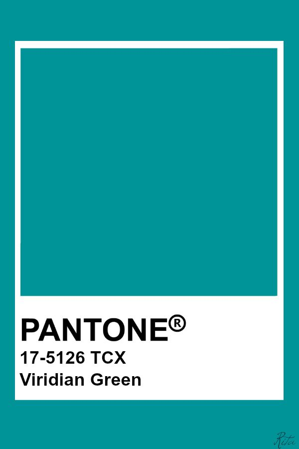 Pantone Viridian Green In 2019 Pantone Colour Palettes