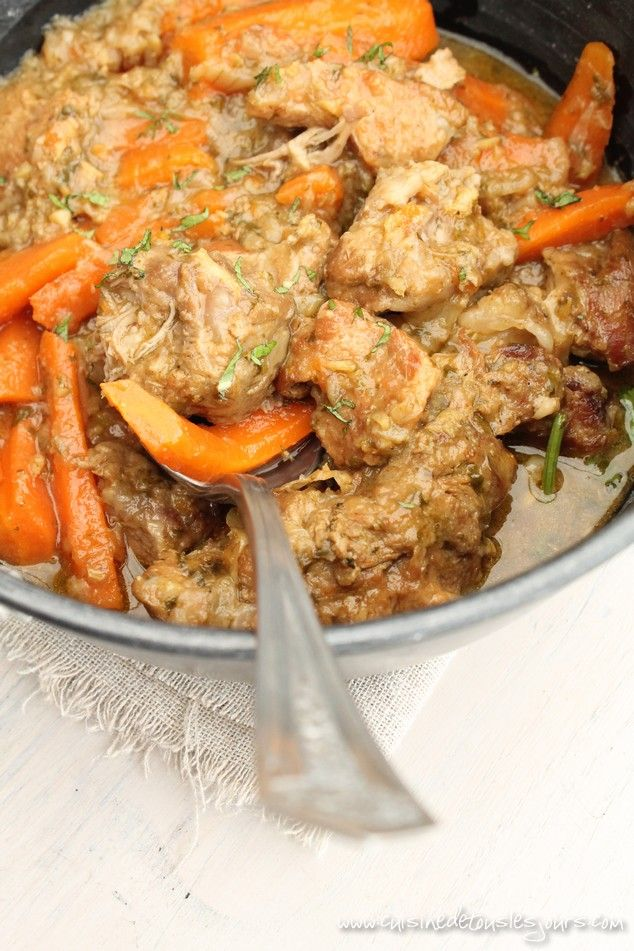 Sauté de veau aux carottes, gingembre et coriandre - Cuisine de tous les jours