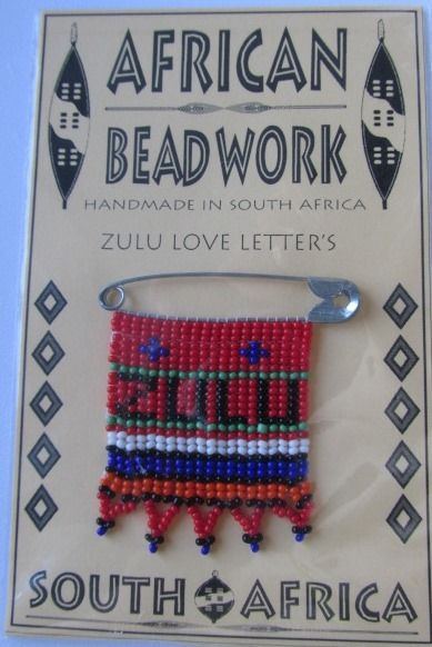 Shared Treasures Boutique - Zulu Love Letters - Beaded Pins made in South Africa, $9.99 (http://www.sharedtreasuresboutique.com/zulu-love-letters-beaded-pins-made-in-south-africa/)