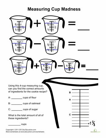 measuring cups madness math baking science math for kids cooking measurements. Black Bedroom Furniture Sets. Home Design Ideas