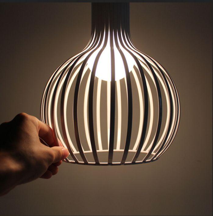 Fabulous Modernen Schwarz Wei Pendelleuchten Lanterne Hause Beleuchtung Lampen F r Wohnzimmer Foyer Kaffee Bar Haus Mit E Led lampen in Modernen schwarzen wei en
