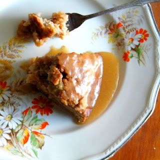 Feijoa and Ginger cake with brown sugar syrup - yum!