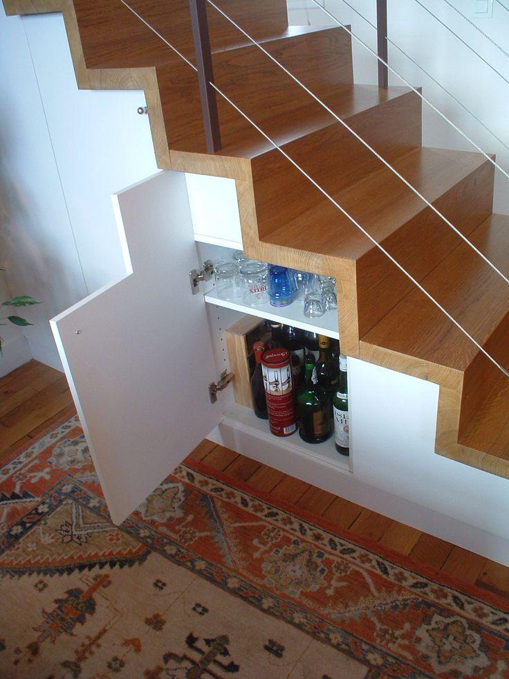 Escalier Gain de place Astuce Rangements Optimisation espace