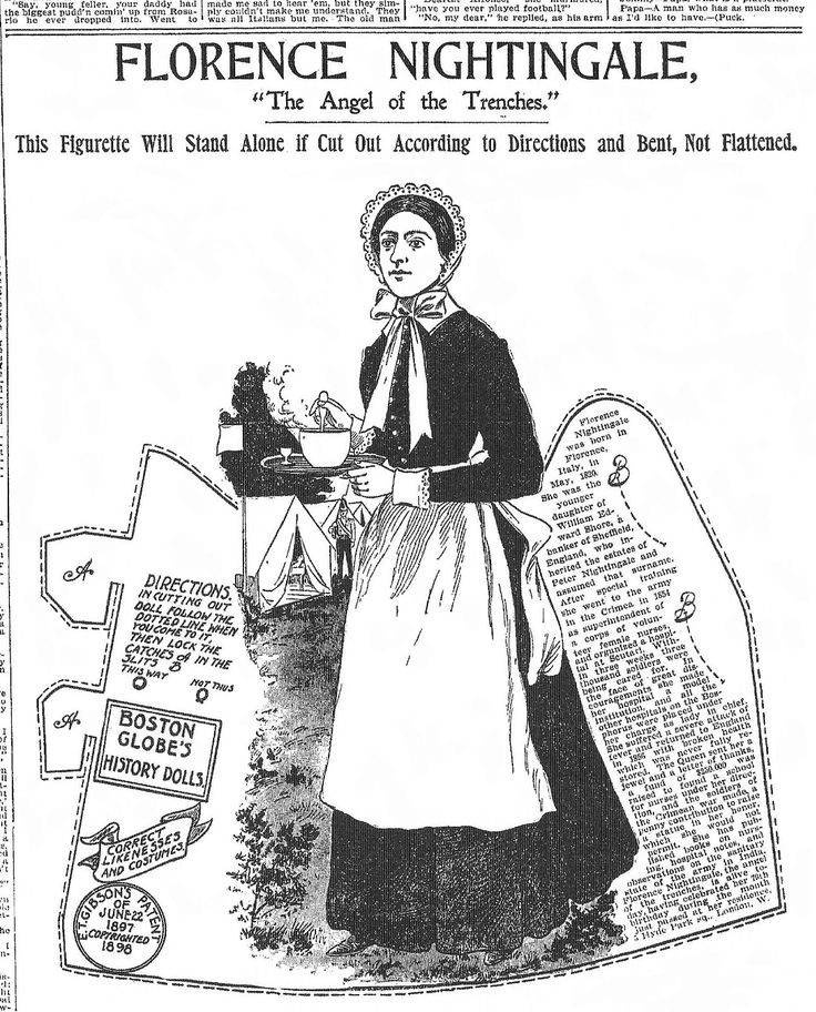 florence nightingale paper doll