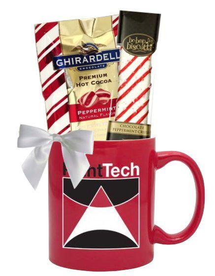 Peppermint Cocoa & Biscotti Holiday Mug Set