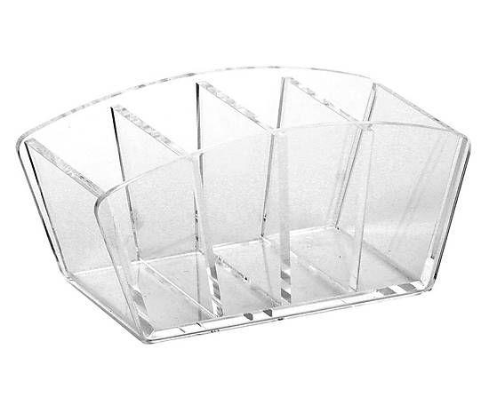 Portatelecomandi da tavolo in acrilico trasparente - 10x18x8 cm 32e