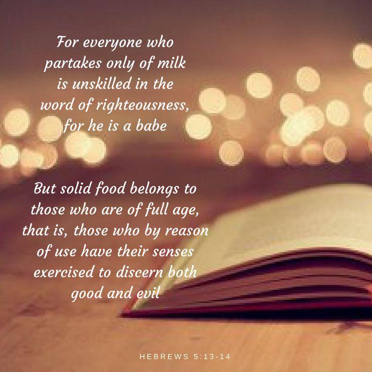Hebrews 5:13-14