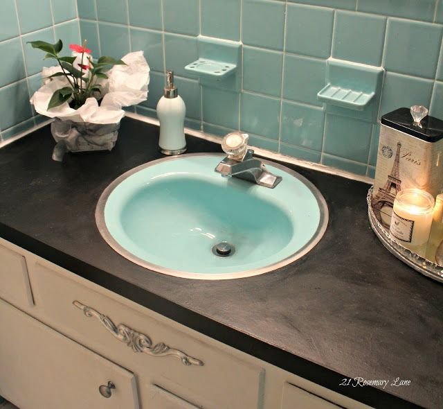 Painting a bathroom countertop