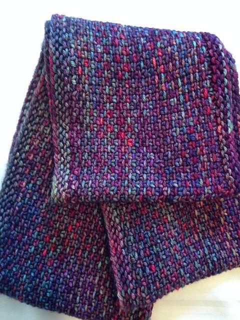 Linen Stitch Cowl by Carly Stipe 1 malabrigo Arroyo in Aniversario