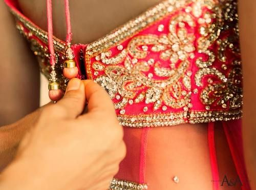 lehenga blouse with tassels