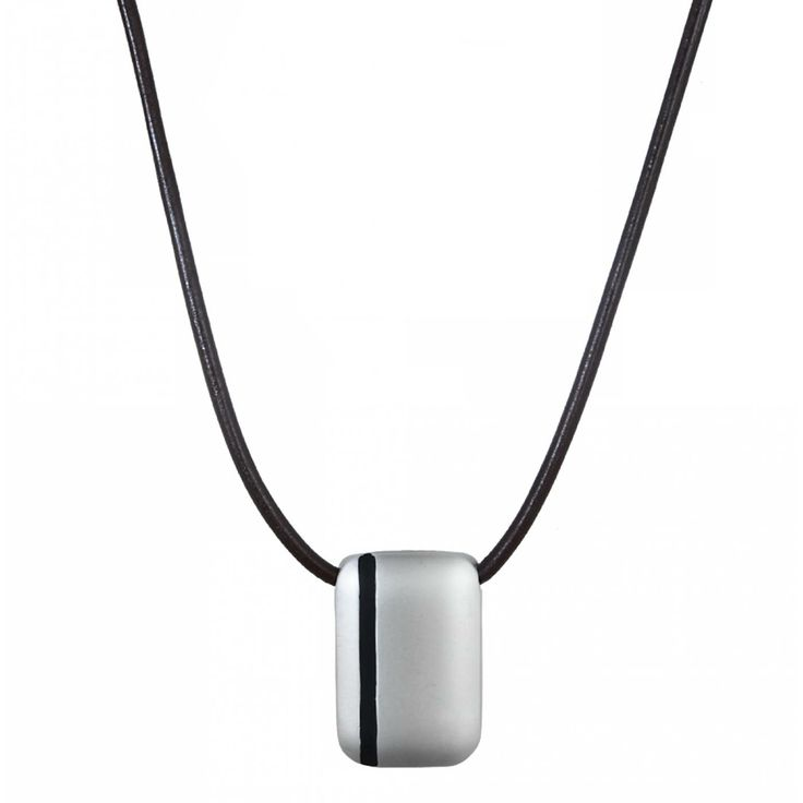 Men leather Castille red-brown necklaces - Vanderly