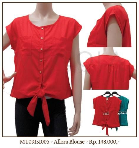 MINEOLA Allora Blouse Red. Also available in green color. Only Rp.148.000,- Bust: 110cm - Length: 55cm. Fabrics: Polyester. Product code: MT09131005   #MINEOLA #myMINEOLA #iWearMINEOLA #Fashion #OnlineShop #Indonesia #Jakarta #Brand #Import #Dress #Blouse #Top #Pants #Skirt #TokoBajuOnline #BajuImport #IndonesiaOnlineShop #OnlineShopIndonesia #FashionOnlineShop