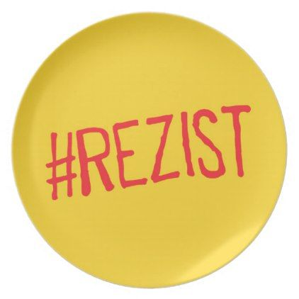 rezist romania political slogan resist protest sym plate - kitchen gifts diy ideas decor special unique individual customized