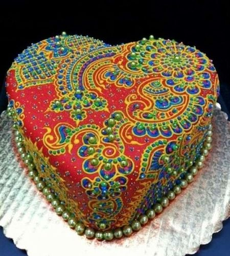 Beautiful Heart Cake Images : Amazing Indian Inspired heart cake WOW Deoch agus Bia ...