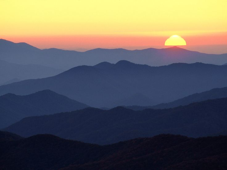 Great Smoky Mountains at Sunset, Tennessee