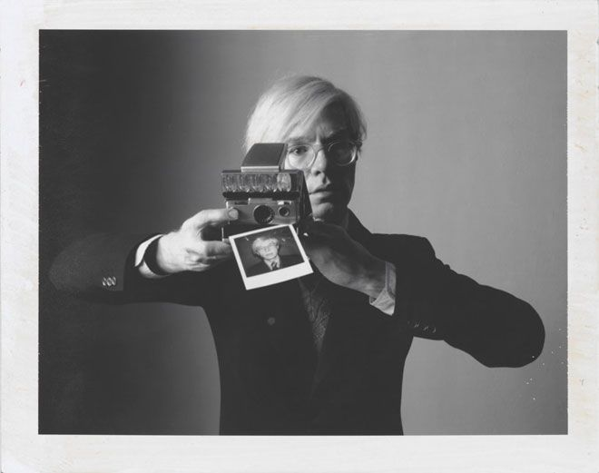 "Oliviero Toscani: ""Andy Warhol with Camera"" - 1974, Polaroid Type 105"