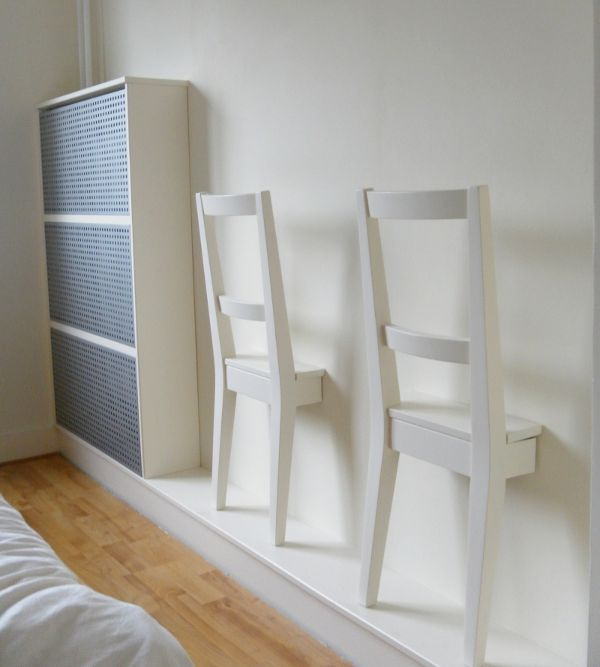 DIY chair valets/clothes organizers to keep clothes off the floor and outfits at-the-ready @ Curbly