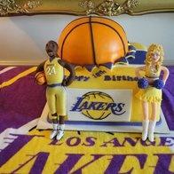 LA Lakers Basketball Cake: Basketball Cakes, Fondant Cakes, Pop Cakes