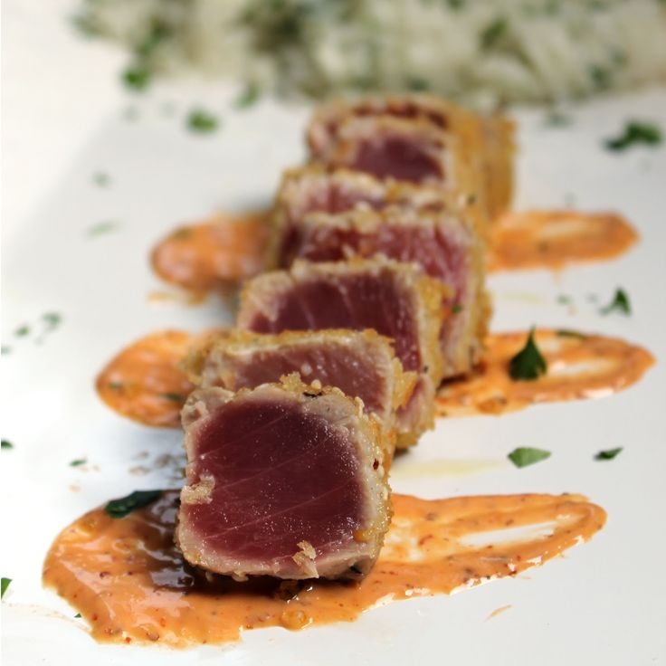 The Stay At Home Chef: Panko Crusted Ahi with Spicy Dijon Aioli