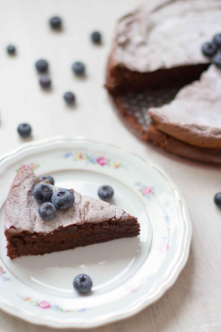Chocoladetaart met 4 ingrediënten (glutenvrij)