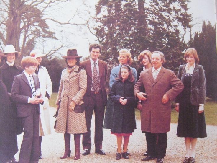 The Spencer family.  Diana far right.