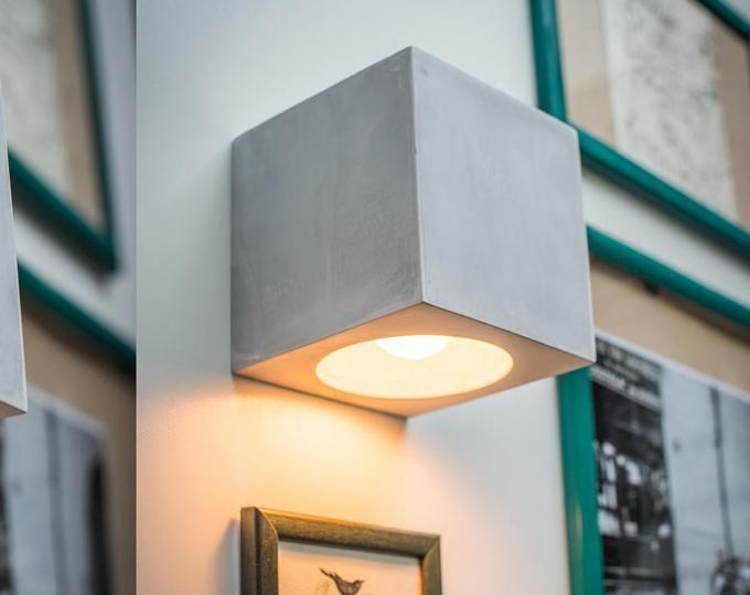 Betonlampe Sc 314 Handgefertigt Konkret Dimmer Lampe Steckleuchte In Wandleuchte Wandlampe Stecklampe Einstecken Wandleuchte Minimalistisch Nachtlicht Wandlampe Wandleuchte Lampen
