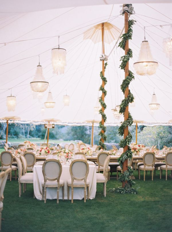 Elegant tented reception space: http://www.stylemepretty.com/2016/03/02/tented-receptions-that-take-style-to-new-heights/