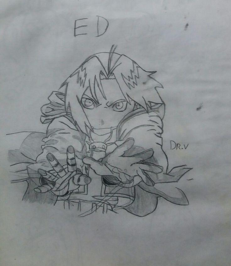 Dibujo antiguo: Edward Elric.