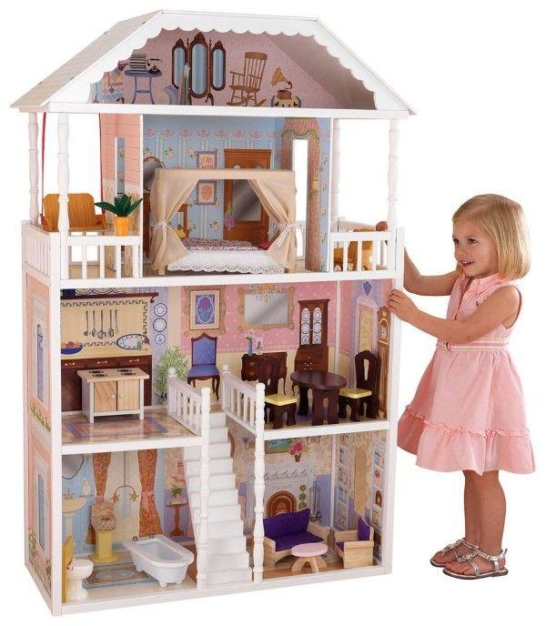 Las 25 mejores ideas sobre casitas de mu ecas en pinterest - Muebles de juguete en madera ...
