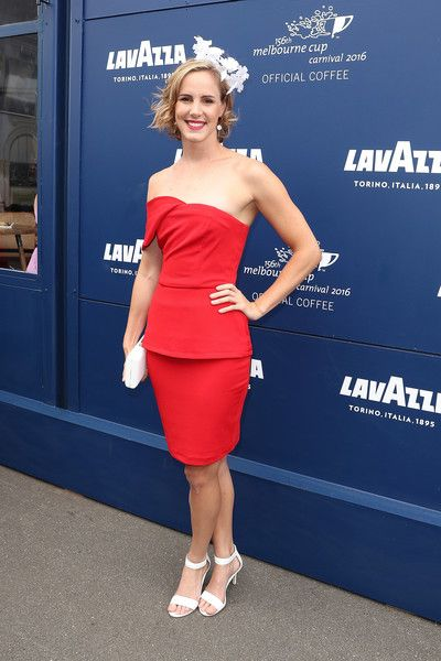 Bronte Campbell Photos Photos - Bronte Campbell poses at the Lavazza Marquee on Melbourne Cup Day at Flemington Racecourse on November 1, 2016 in Melbourne, Australia. - Celebrities Attend Melbourne Cup Day