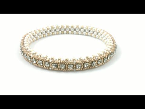 Beading4perfectionists : 1920's Art Deco style tennis bracelet. Cupchain in a CRAW - YouTube