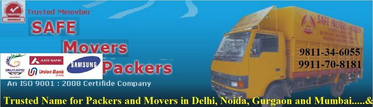 Official Website of Safe Movers Packers Pvt. Ltd.   India's No.1 Leading Safe & Reliable Packers and Movers Services Provider in Delhi, India based Company. An ISO 9001:2008 Certified.  We worked for more than 100 brands Company in India. Such as Delhi Commonwealth, Axis Bank, Samsung, ONGC Videsh Ltd, MANSUKH SECURITIES AND FINANCE LTD….many more!  To know more about us kindly, visit us www.safepackersmovers.com or Call Us Today: 09811-34-6055