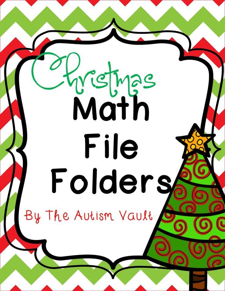 Christmas Math File Folders: