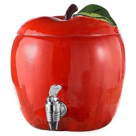 Apple Design Beverage Dispenser....so cute for apple cider in the fall!