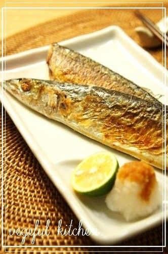 Foolproof! Salt-Grilled Pacific Saury in a Frying Pan, Sanma.