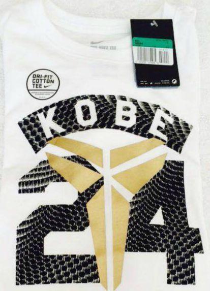 Nike 24 Kobe Bryant Black Mamba Workout Basketball Boys XL White Dri Fit T-Shirt #Nike #WorkoutDressyEverydayHoliday