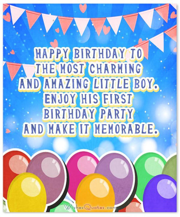 Wonderful Birthday Wishes For A Baby Boy Happy Birthday Little Boy
