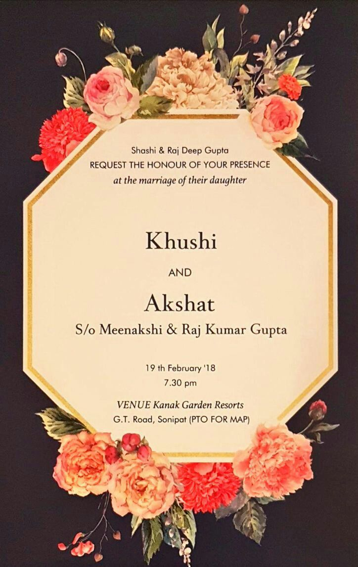 Floral Wedding Cards 2018 Invitations In 2019 Pinterest
