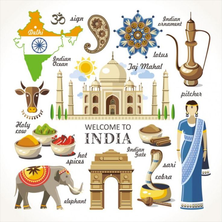 Travel Concept Country Landmark 02 G (Welcome To India)