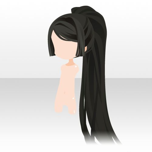 Black anime hair