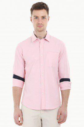 Solid Herringbone Shirt