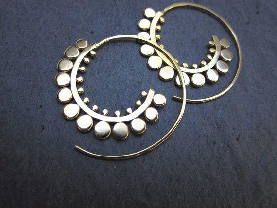 SB Jewelry - sunflower spiral hoops
