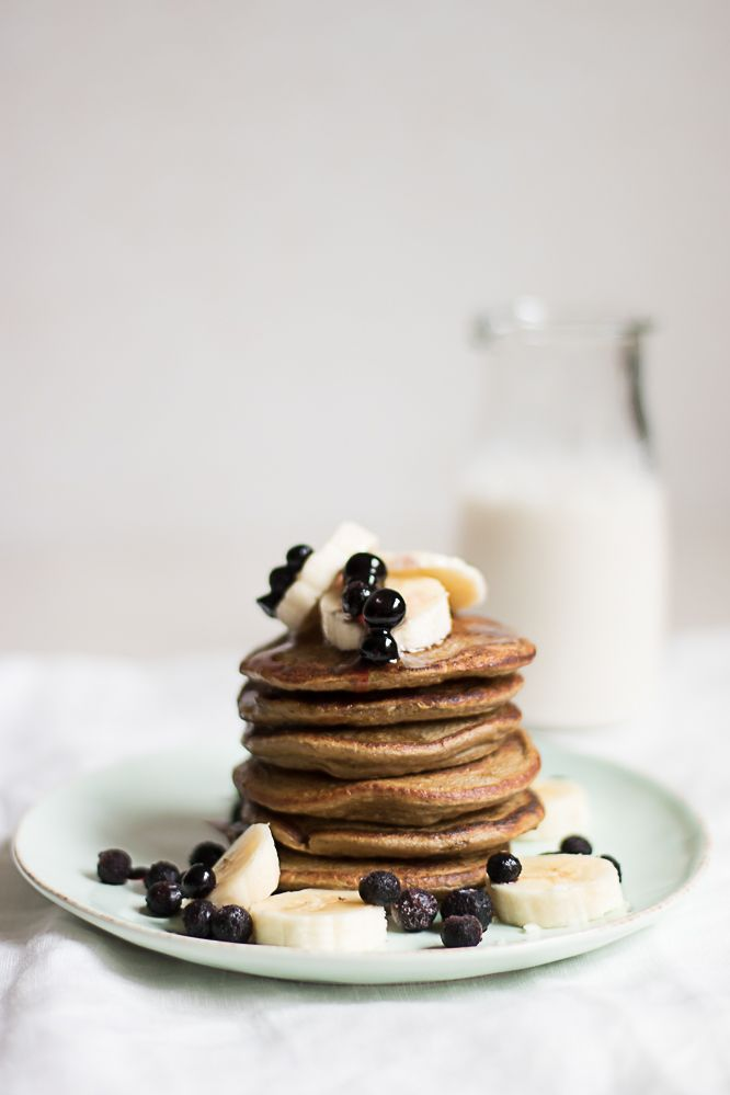 Super simple breakfast pancakes! Just pour all ingredients in your blender! Pour it right out of the pitcher onto your griddle!