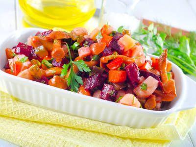 Colorful Heirloom Tomato and Beet Salad